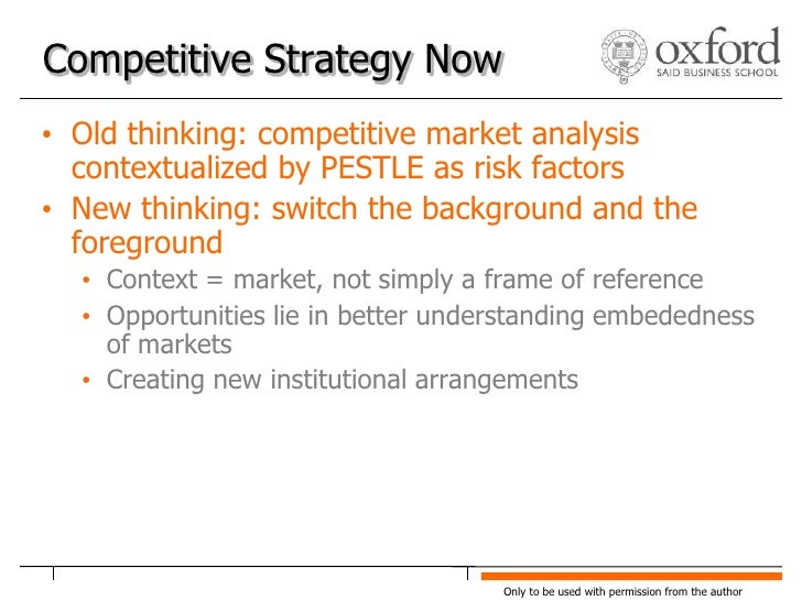 uncovering competitive and institutional drivers of The institutional model applied in the  among the ten finding on competition was that 'the source of all competitive advantage is the ability to access and utilize.