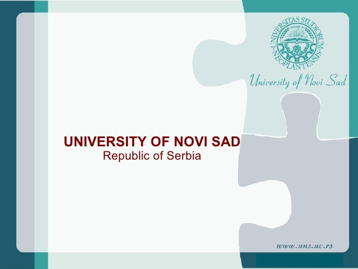 UNIVERSITY OF NOVI SAD Republic of Serbia