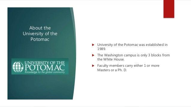 University of potomac intro Slide 2