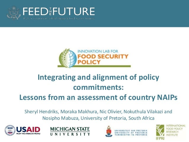 Title goes here Integrating and alignment of policy commitments: Lessons from an assessment of country NAIPs Sheryl Hendri...