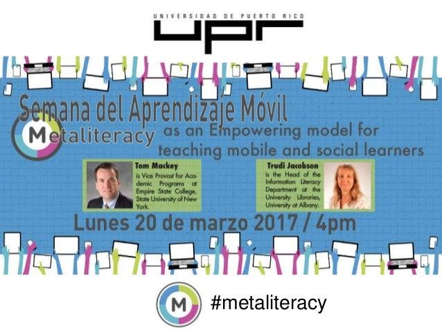 #metaliteracy