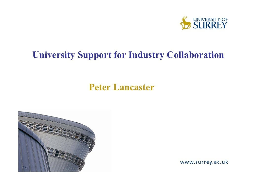 University support for industry collaboration