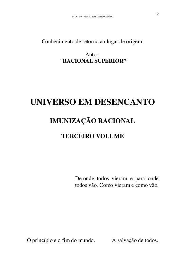 Livro Universo Em Desencanto Pdf