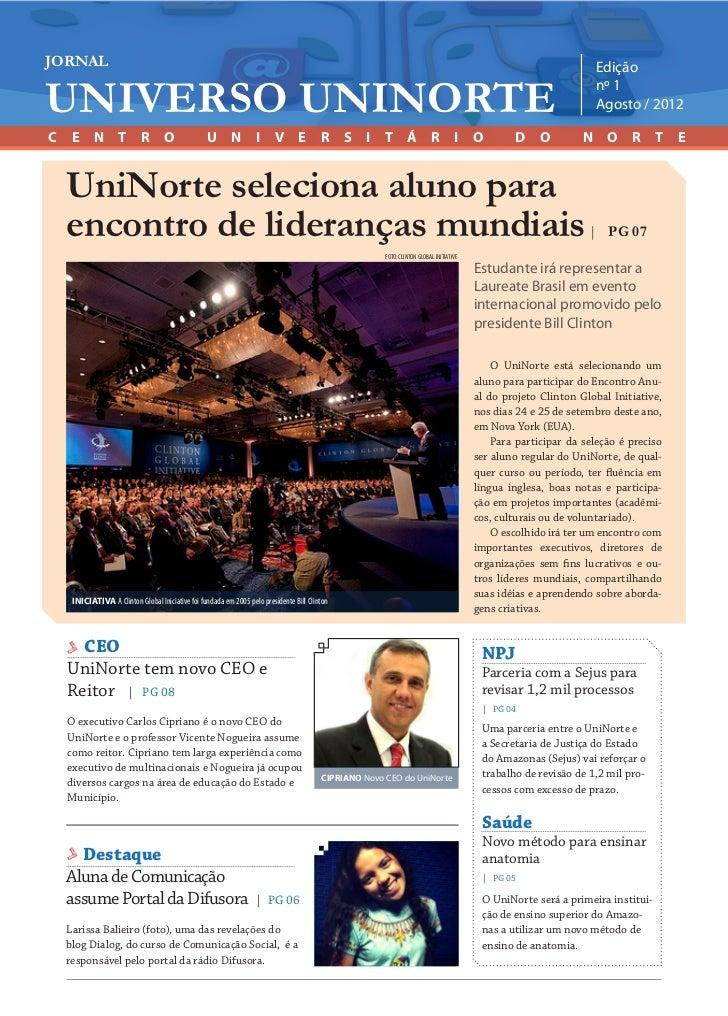 JULHO / 2012JORNAL               Editoria  Jornal UniNorte/Laureate          | www.uninorte.com.br                        ...
