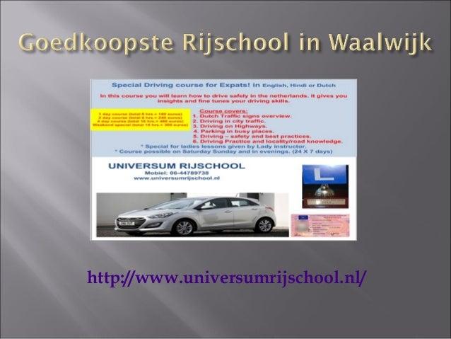 Universum Rijschool - Goedkoop Rijschool in Tilburg Slide 2