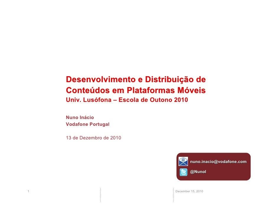 Distribuição de Conteúdos em Equipamentos Móveis