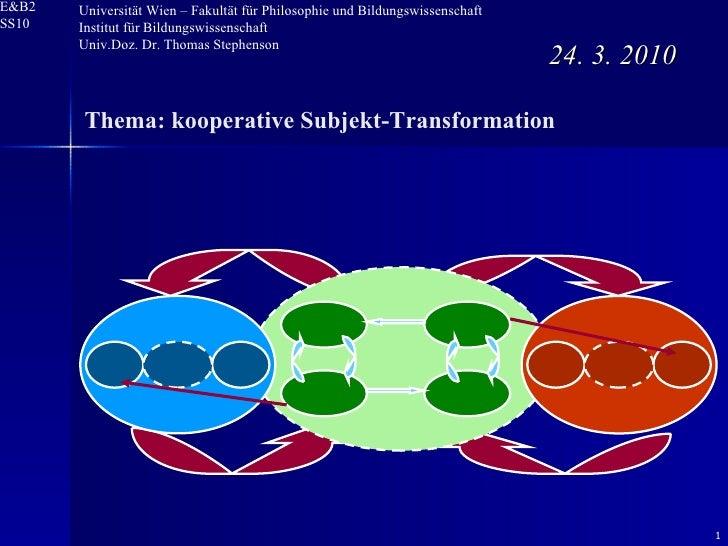 24. 3. 2010 Universität Wien – Fakultät für Philosophie und Bildungswissenschaft  Institut für Bildungswissenschaft Univ.D...