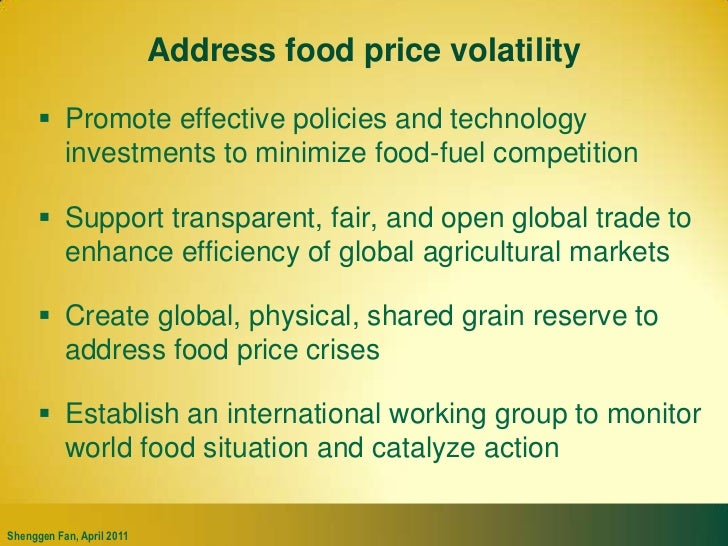 Climate change will push up food prices <br />World food price increases under various scenarios, 2010–2050<br />(% change...