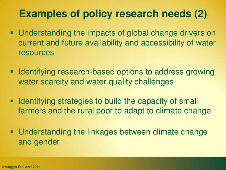 """Policy research insights for resource allocation<br />Source: Fan, Mogues, and Benin 2009 Note: """"n.e."""" indicates not estim..."""
