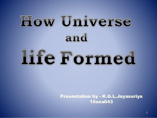 Presentation by - K.G.L.Jayasuriya 16sea043 1