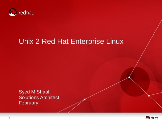 Unix to Red Hat Enterprise Linux