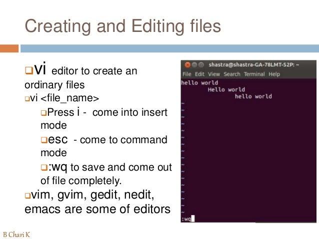 Know the UNIX Commands