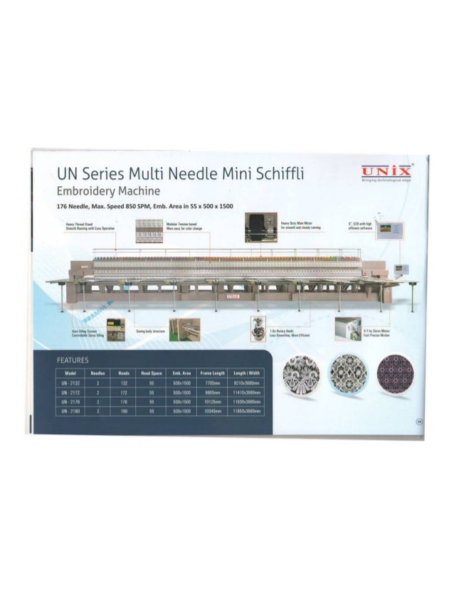 Unix Stitchmachines Private Limited, Surat, Embroidery Machine