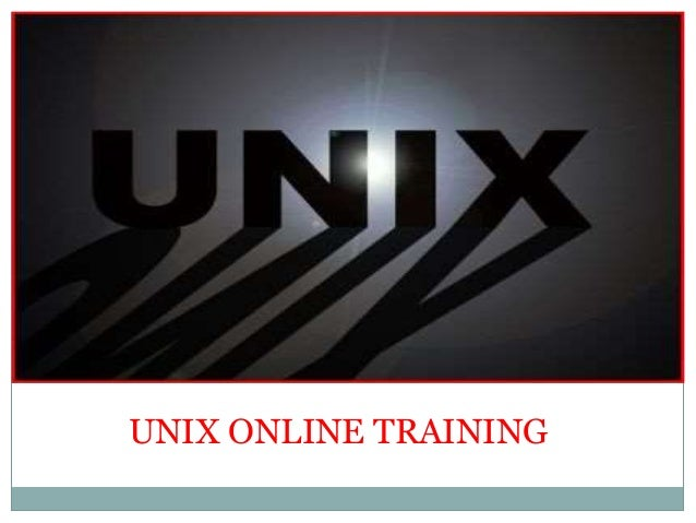 The Best UNIX Online Training With Certification