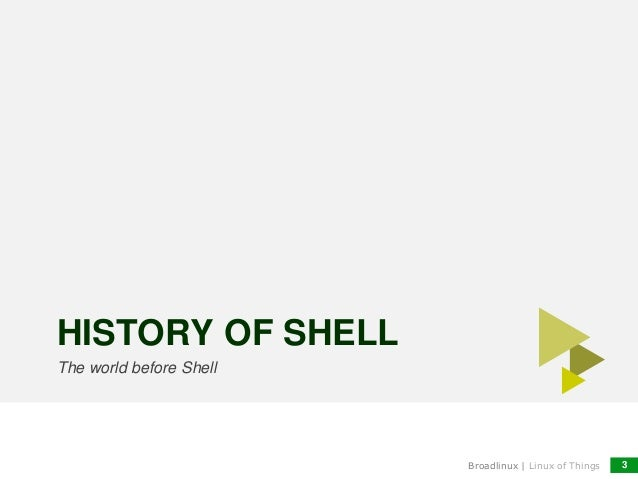 Unix shell story
