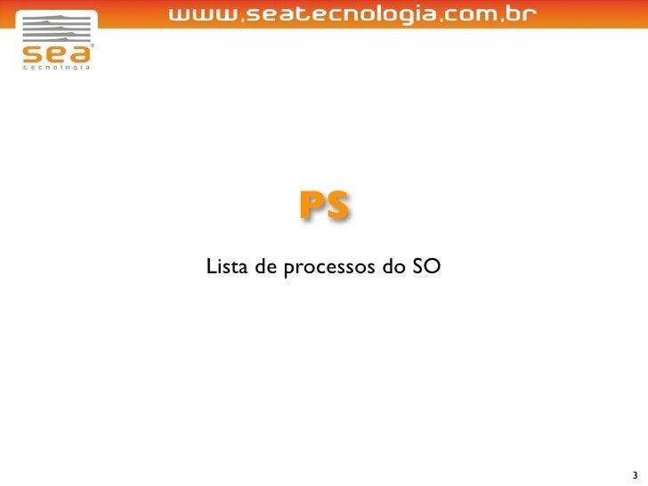 PS Lista de processos do SO                                3