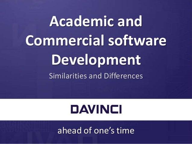 Commercial Software Development : Tom van ees academic and commercial software development