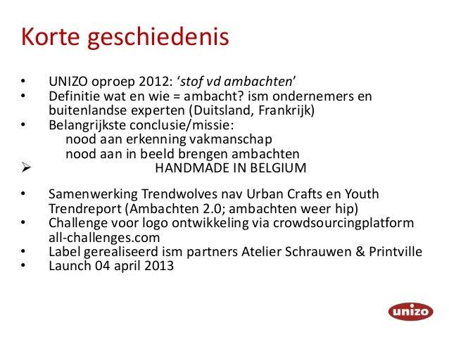 Handmade in Belgium / De Makers (UNIZO) Slide 3