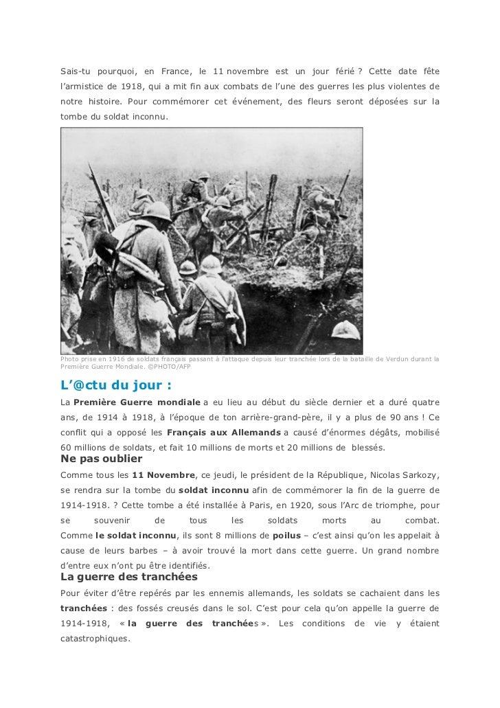La première guerre mondiale