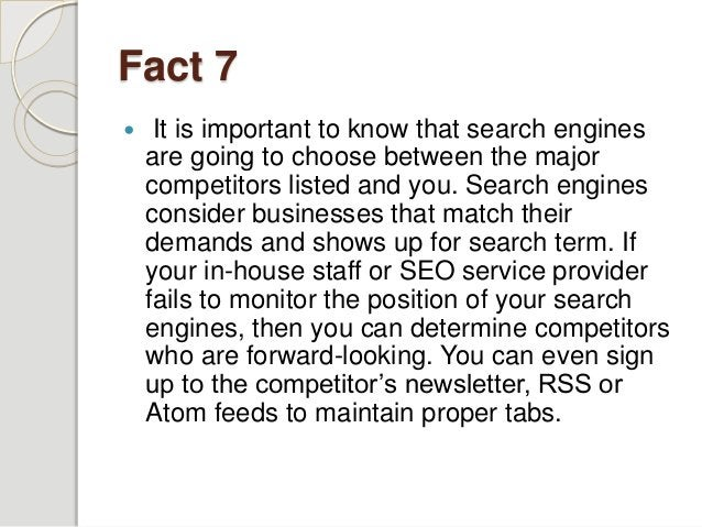 Fact 8  Proof read your report constantly prior to submitting the task. The key reason behind this is search engines will...