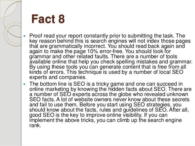 Unknown Facts About SEO Revealed By The Experts