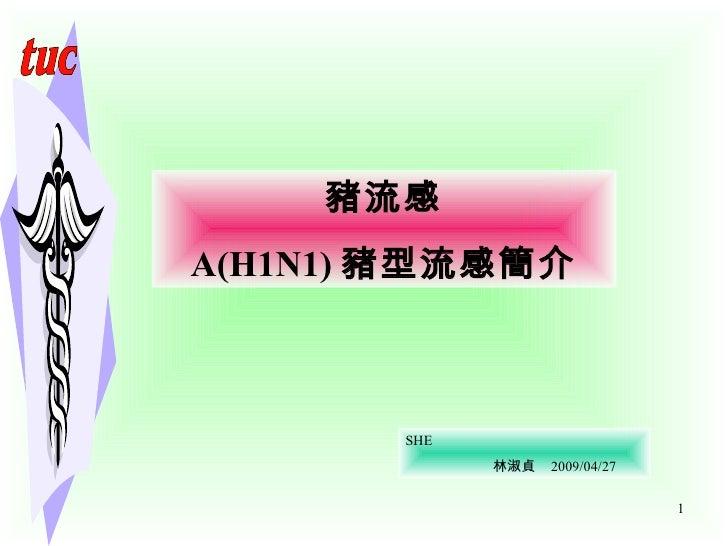 豬流感 A(H1N1) 豬型流感簡介 SHE 林淑貞  2009/04/27