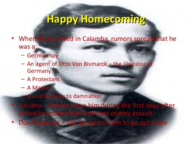 rizal homecoming Rizal's firstrizal's first homecominghomecoming (1887-1888)(1887-1888) presented by: abas s acmad daryl tanguan group 2.