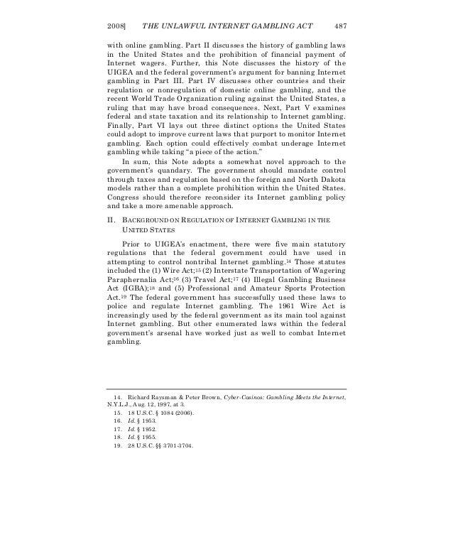 Unlawful gambling enforcement act casino in hobart