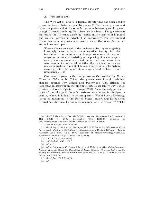 Sample unlawful internet gambling enforcement act policy gambling internet opinion public rfp survey