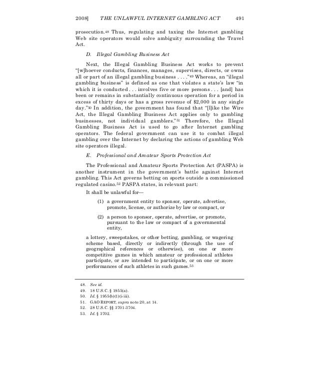 Unlawful Internet Gambling Enforcement Act of 2006
