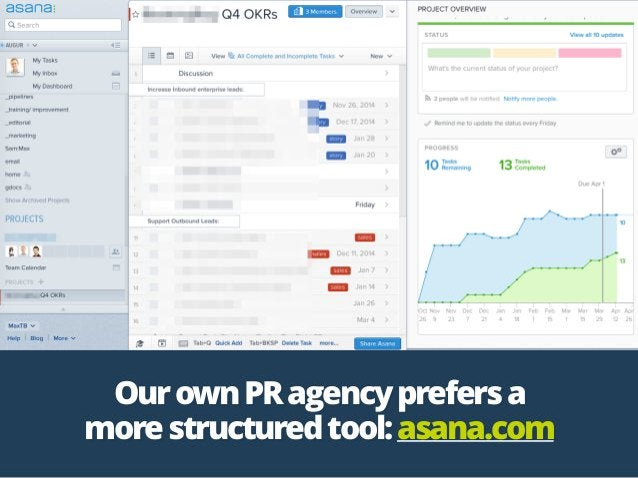 OurownPRagencyprefersa morestructuredtool:asana.com