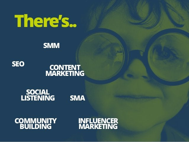 SMM SEO SMA CONTENT MARKETING INFLUENCER MARKETING COMMUNITY BUILDING SOCIAL LISTENING There's..