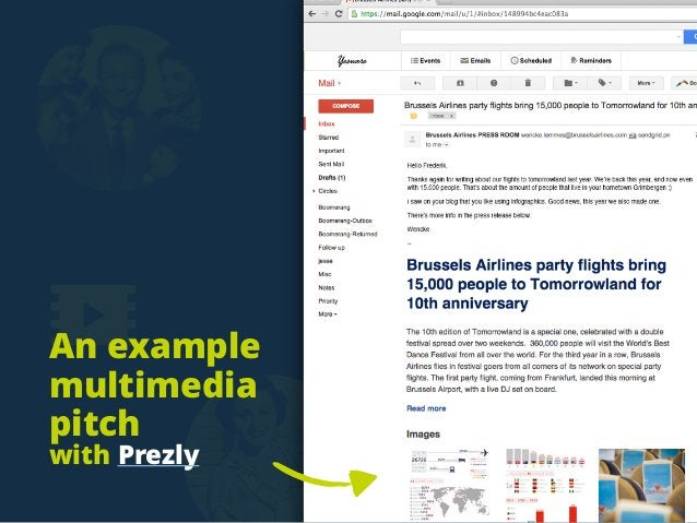 An example multimedia pitch with Prezly