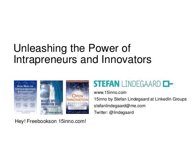 www.15inno.com15inno by Stefan Lindegaard at LinkedIn Groupsstefanlindegaard@me.comTwitter: @lindegaardUnleashing the Powe...