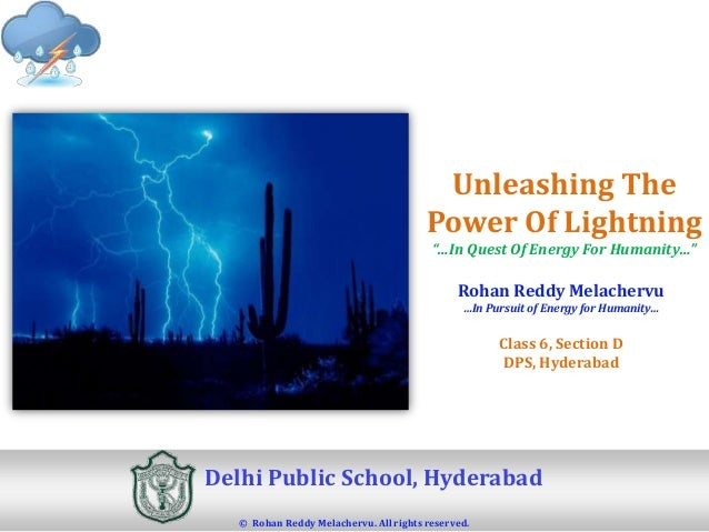 """Unleashing The                                        Power Of Lightning                                         """"…In Ques..."""
