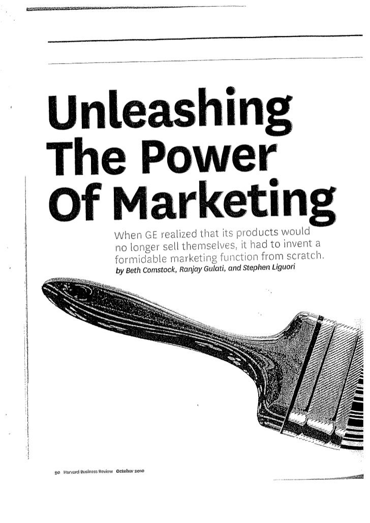 Unleashing the power of marketing