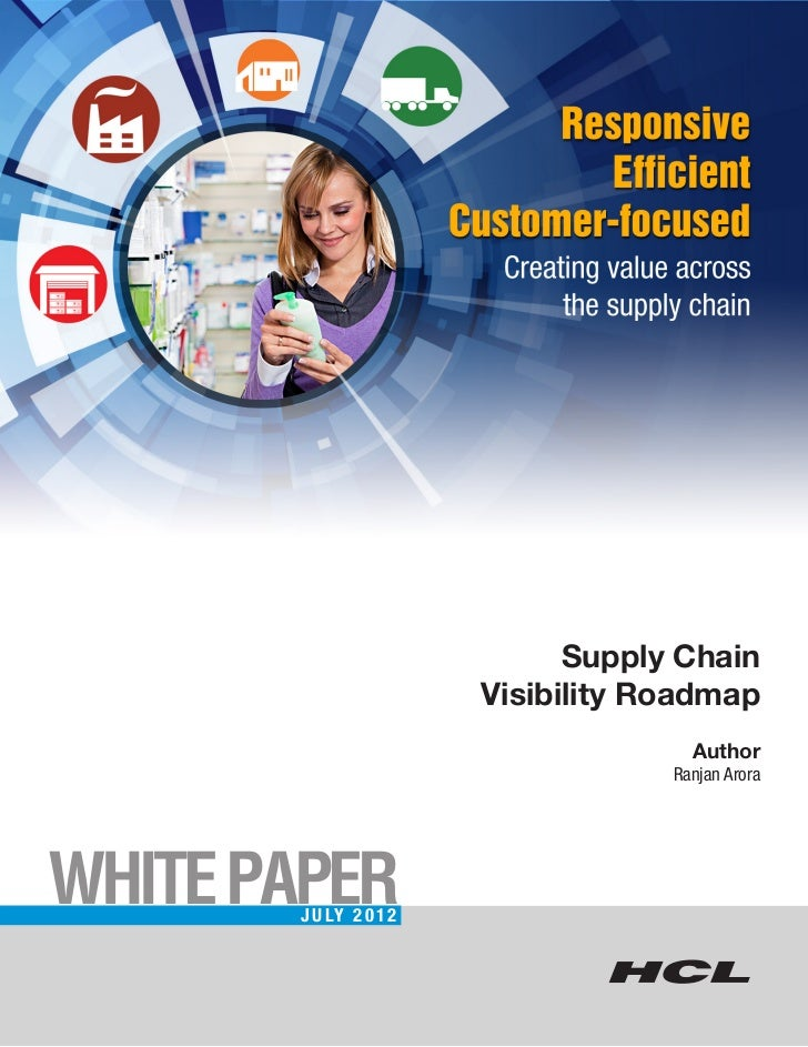 Supply Chain                        Visibility Roadmap                                      Author                        ...