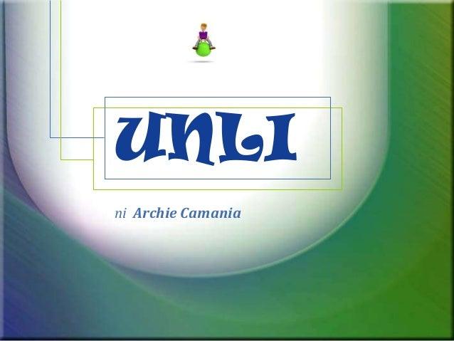 UNLIni Archie Camania