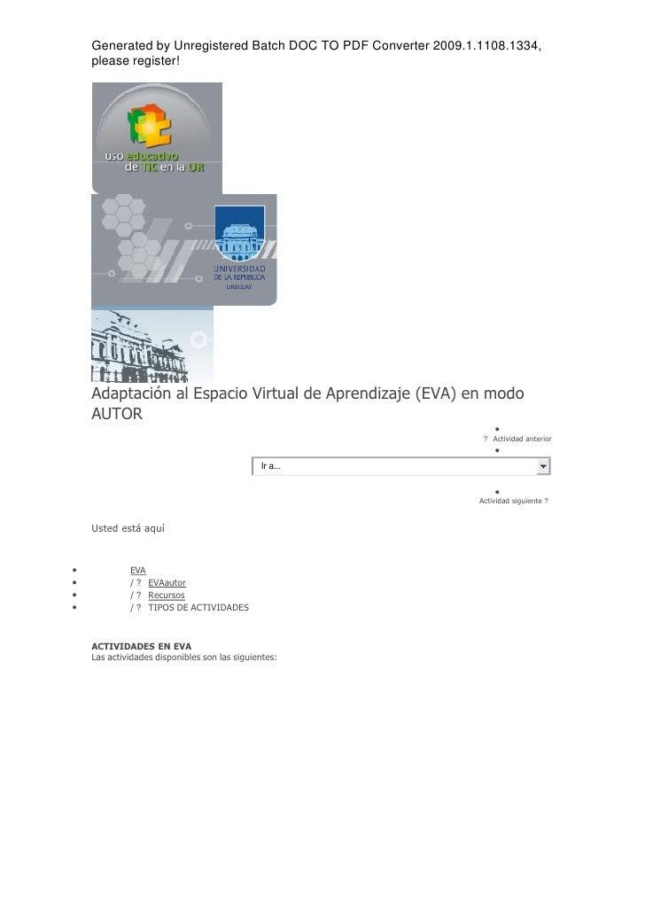 Generated by Unregistered Batch DOC TO PDF Converter 2009.1.1108.1334,     please register!         Adaptación al Espacio ...