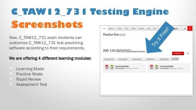 SAP Best Practice Material For C/_TAW12/_731 Exam Q/&A PDF+SIM