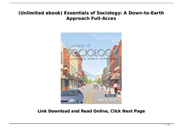 Download! Pdf essentials of sociology: a down-to-earth approach *full….