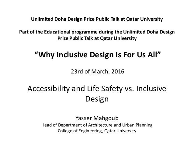 Unlimited Doha Design Prize Public Talk at Qatar University Part of the Educational programme during the Unlimited Doha De...