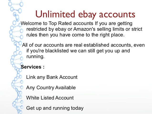 Unlimited ebay accounts