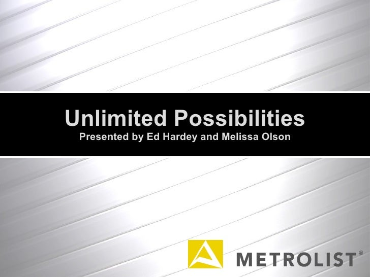 Unlimited Possibilities Presented by Ed Hardey and Melissa Olson