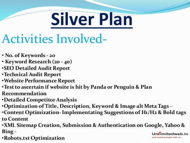 unlimited web hosting seo smo plans
