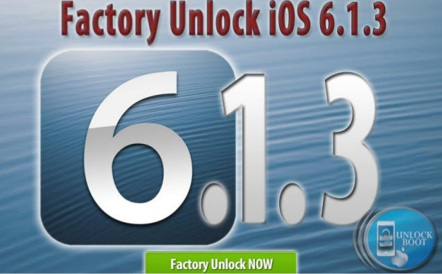 Unlock iOS 6.1.3 Firmware on IPhone 4, 4S, 5 via IMEI Code
