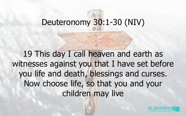 Now Choose Life So That You And Your Children May Live 4 1