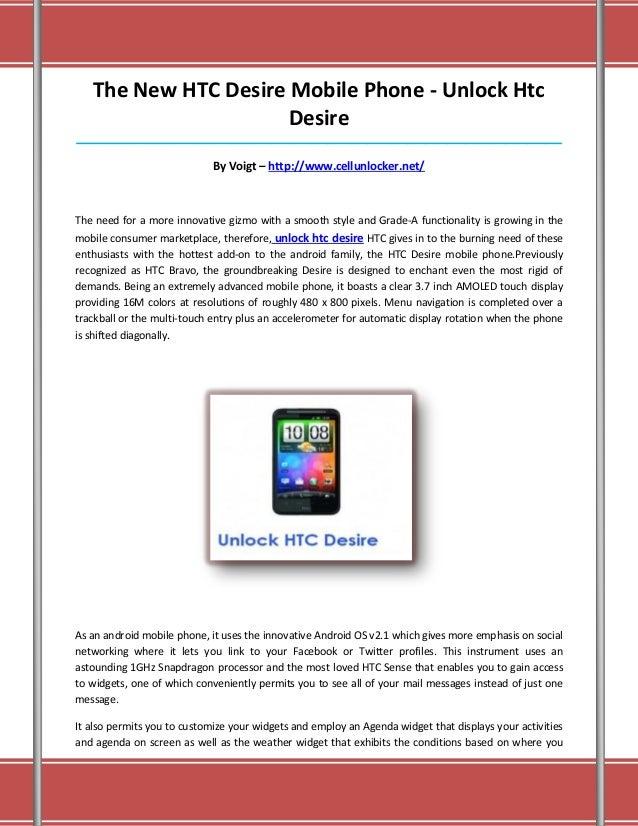 Unlock htc desire