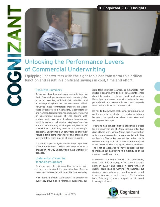 Unlocking the Performance Leversof Commercial UnderwritingEquipping underwriters with the right tools can transform this c...