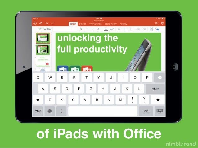 of iPads with Office